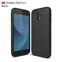 Чехол Carbon для Samsung J3 2017 J330 бампер оригинальный Black