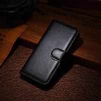 Чехол Книжка для iPhone 5 / 5s кожа PU черный
