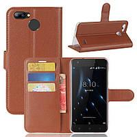 Чехол Blackview A7 Pro книжка кожа PU коричневый