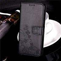 Чехол Книжка для Sony Xperia XA1 / G3112 кожа PU Clover черный
