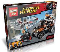 Конструктор Lepin 07031 Супергерои Опасное ограбление Кроссбоунса (аналог Lego Super Heroes 76050)
