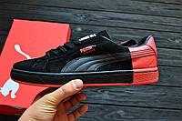 "Мужские кроссовки Puma Suede ""Pigeon"" Black&Red(ТОП РЕПЛИКА ААА+), фото 1"