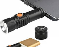 Переносной фонарь BL 616-T6 ZOOM USB зарядка Акумулятор, Ручной фонарь, 3 режима фонаря