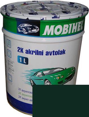 """Автокраска 307 Эмаль акриловая Helios Mobihel """"Зеленый сад"""" 1л без отвердителя"""