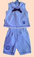 Комплект для девочки : блуза без рукавов и шортики