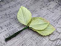 Листики из сатина. Цвет светло-зеленый., фото 1
