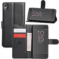 Чехол Sony Xperia XA F3112 / F3111 книжка кожа PU черный
