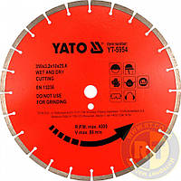 Сегментный алмазный диск по камню 300 мм х 25,4 мм Yato YT-5953