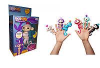 Обезьянка (мавпочка) Fingerlings на палец интерактивная 12 см Белая София, 801 т, фото 1