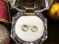 Серьги-пусеты серебряные