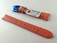 Ремешок Hightone, кожаный, анти-аллергенный, морковный, фото 1
