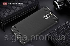 Чехол Carbon для Meizu M6 note бампер Black