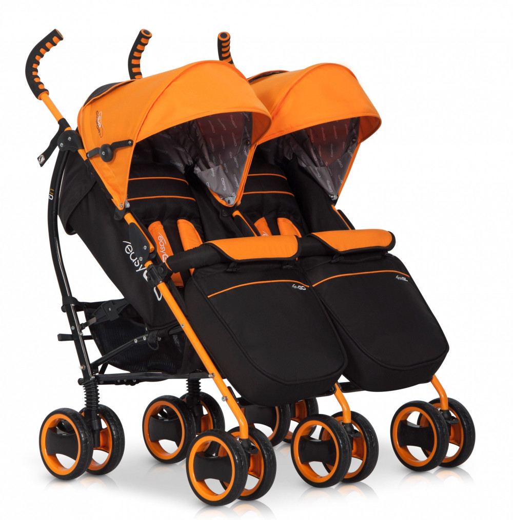 Коляска EasyGo Comfort Duo orange