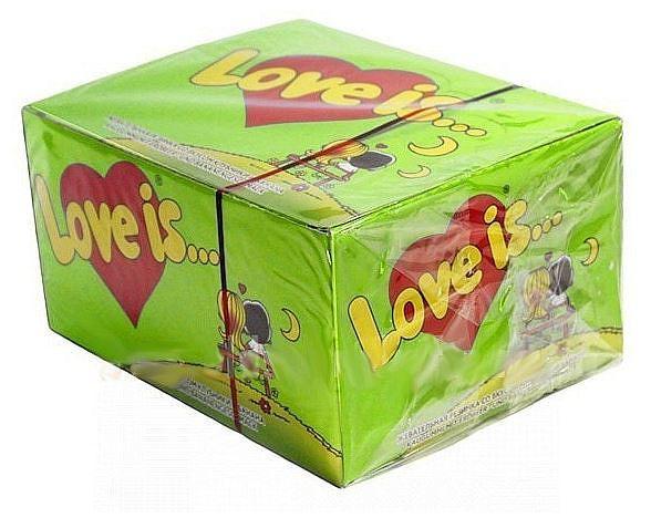 Жвачки love is. Яблоко-Лимон