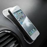 Антискользящий коврик в машину для телефона 14 х 8 см (nano pad) , фото 3