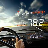 Автомобильный проектор скорости на лобовое стекло HUD X5, фото 3