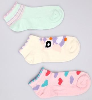 Р. 25-27 ( 3-5 лет )  носочки Bross укороченные сердечки