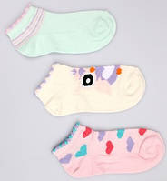 Р. 28-30 ( 5-7 лет )  носочки Bross укороченные сердечки