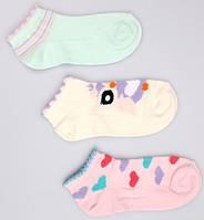 Р. 31-33 ( 7-9 лет ) носочки Bross укороченные сердечки