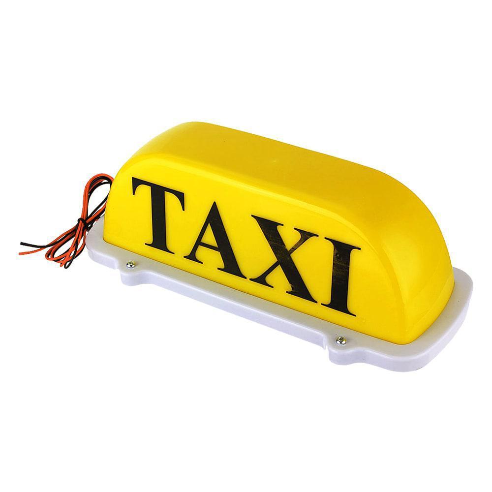 Светодиодная шашка для такси с магнитным креплением на крышу авто