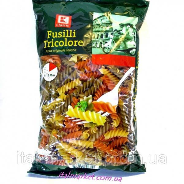 Паста Спиральки Триколор (цветные) Fusilli Tricolore 500 г