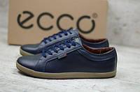 Мужские кожаные кроссовки кеды Ecco, фото 1