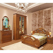 Спальня комплект з ДСП/МДФ 4Д (без матрасу та каркаса) Тіна (патина) Світ Меблів