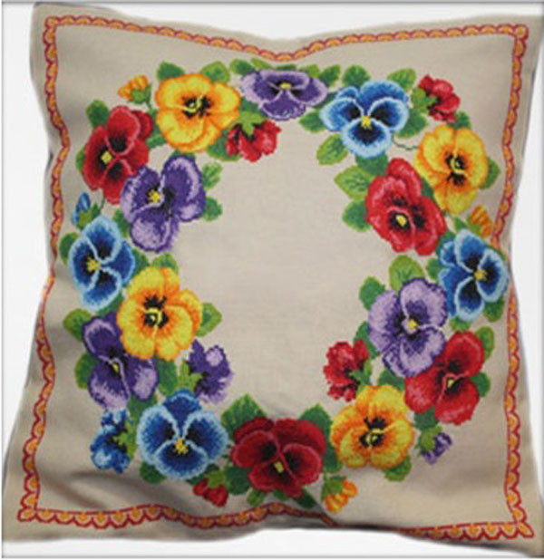 Наборы для вышивки подушек