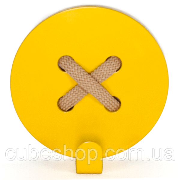 Настенный крючок для одежды Glozis Button Yellow