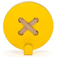 Настенный крючок для одежды Glozis Button Yellow, фото 1