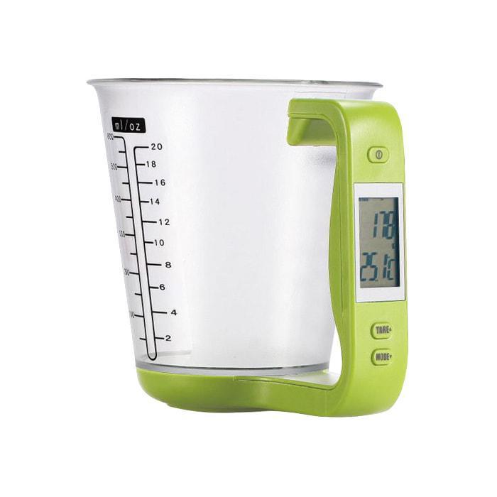 Электронный мерный стакан с весами для кухни (1000 г 600 мл)