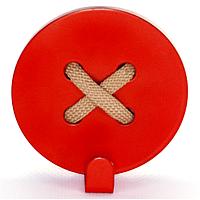 Настенный крючок для одежды Glozis Button Red