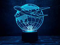 "3D ночник ""Самолет 3"" 3DTOYSLAMP"