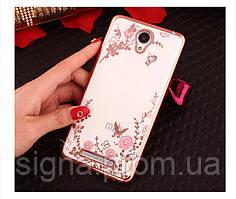 Чехол Luxury для Xiaomi Redmi Note 2  Rose Gold