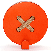 Настенный крючок для одежды Glozis Button Orange
