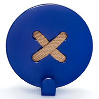 Настенный крючок для одежды Glozis Button Blue, фото 1