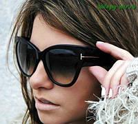 Женские брендовые очки Tom Ford черные, фото 1