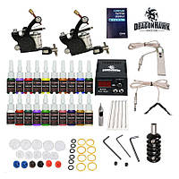 Тату оборудование для начинающих, набор татуировщика (2 машинки)
