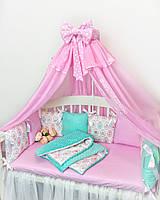 Бортики подушки (защита в кроватку) 023