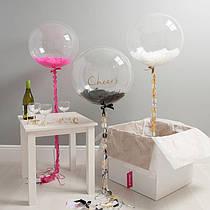 """Прозрачный шар 24"""" (60 см) bubbles"""