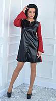 Женское платье из замша и экокожи ( 42-52 размер)