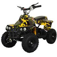 Квадроцикл PROFI HB-EATV 800C-13: 30км/ч, 36V, 800W до 100 кг ЖЕЛТЫЙ КАМУФЛЯЖ - купить оптом