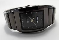 Мужские часы в стиле Радо, черные