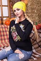 """Стильная женская шапка """"Майя"""" (желтый)"""