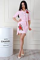Женское платье-рубашка асимметричной длины