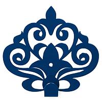 Настенный крючок для одежды Glozis Ajur Blue, фото 1