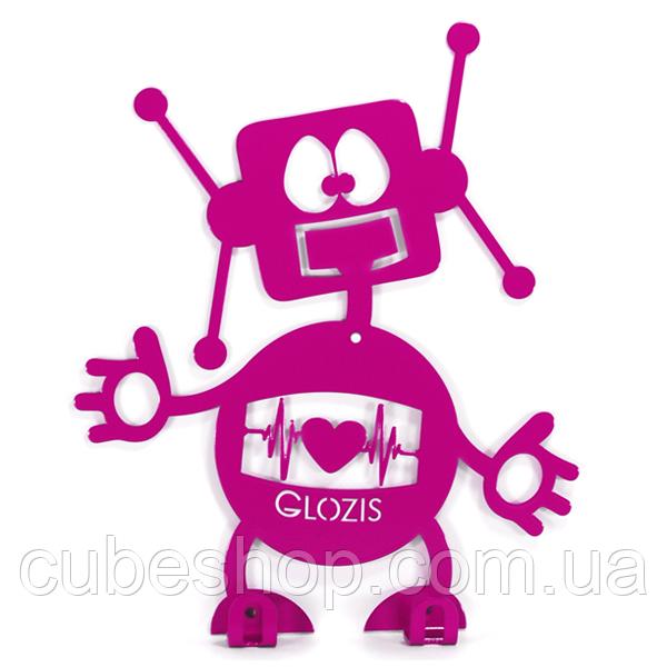 Вешалка настенная детская Glozis Robot (металлическая)