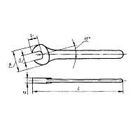 Ключ гаечный односторонний 50 мм. длинная ручка (СССР)