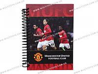Блокнот карт. обложка, спир., 80л., А6 Manchester Un /1/50/100/(MU14-222K)