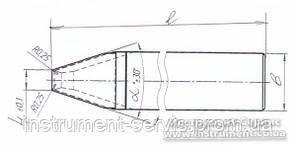Резец токарный канавочный для клиноремен. пазов 32х20х170 ВК8 (А,34) ИР-585